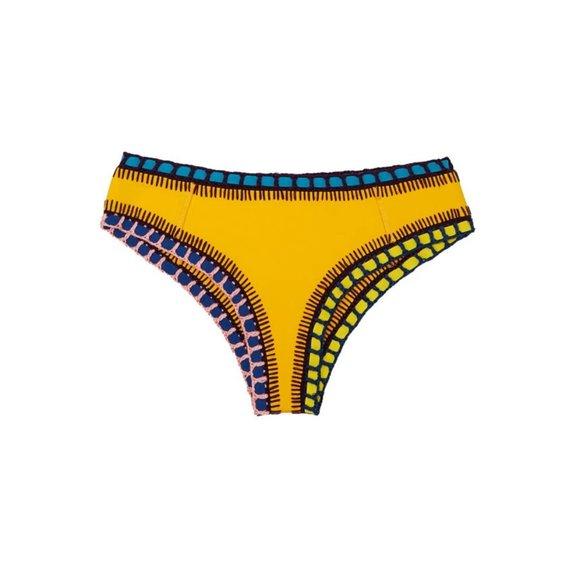 Kiini Swimsuit Ro Boyshort Bottom Crochet Woven